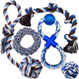Otterly Pets Puppy Dog Pet Rope Toys Medium To Large Dogs (5 Pack)
