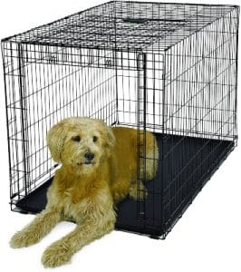"""Ovation Folding Dog Crate Dog Crate Features Space Saving Overhead """"garage"""" Style Door & Comes Ful"""