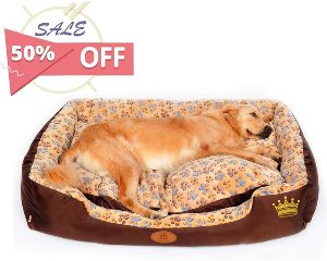 Pls Birdsong Sweetspot Bolster Dog Bed With Pillow, Extra Plush, Completely Removable Cover With Zip