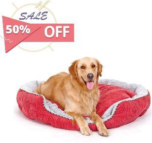 Pls Pet Snugg Bolster Pet Bed, Dog Bed, Completely Washable, Easy Clean, Modern Design, Durable