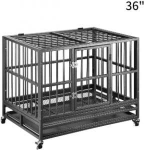Pupzo Heavy Duty Dog Cage Crate