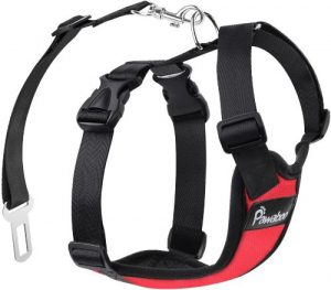 Pawaboo Dog Safety Vest Harness, Pet Car Harness Vehicle Seat Belt With Adjustable Strap And Buckle