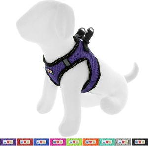 Pawtitas Pet Reflective Mesh Dog Harness, Step In Or Vest Harness Dog Training Walking Of Your Puppy