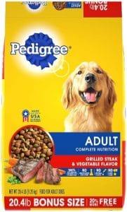 Pedigree Adult Dry Dog Food Grilled Steak & Vegetable