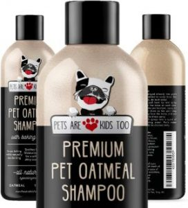 Pet Oatmeal Anti Itch Shampoo & Conditioner In One! Smelly Puppy Dog & Cat Wash, Natural Ingredients