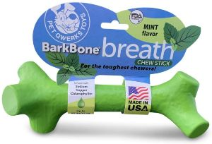Pet Qwerks Barkbone Breath Dental Chew Stick With Mint Flavor For Aggressive Chewer Dogs, Made In Us