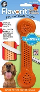Pet Qwerks Flavorit Chew Toy Flavor Infused Nylon With Fillable Tiny Pockets For Spreads