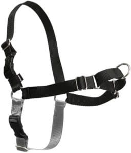Petsafe Easy Walk Dog Harness, No Pull Dog Harness, Black Silver, Large (ewh Hc L Blk)
