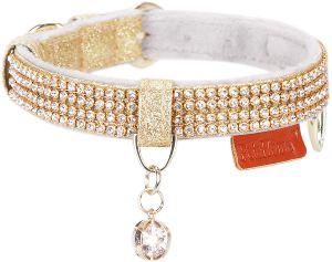 Petshome Cat Collar, Dog Collar, [bling Rhinestones] Premium Pu Leather With Pendant Adjustable Coll