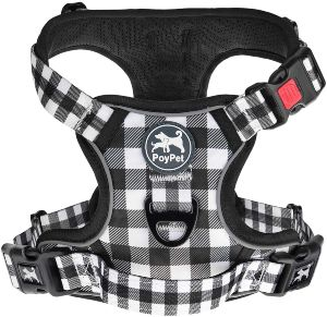 Poypet No Pull Dog Harness, [upgraded Version] No Choke Front Lead Dog Reflective Harness, Adjustabl
