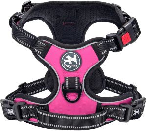 Poypet No Pull Dog Harness, [upgraded Version] No Choke Front Lead Dog Reflective Harness, Adjustabl
