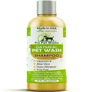 Pro Pet Works All Natural Organic Oatmeal Pet Shampoo Plus