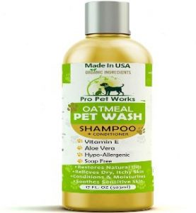 Pro Pet Works All Natural Organic Oatmeal Pet Shampoo Plus Conditioner Hypoallergenic And Soap Fre