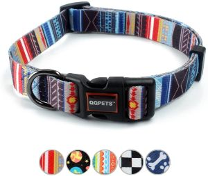 Qqpets Dog Collar Personalized Soft Comfortable Adjustable Collars For Small Medium Large Dogs Outd