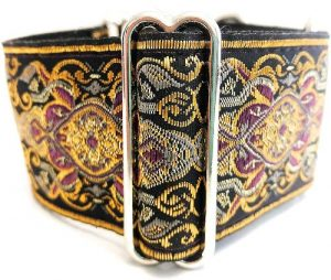 Sgang Handmade Martingale Greyhound Saluki Whippet Dog Collar 2'' Wide