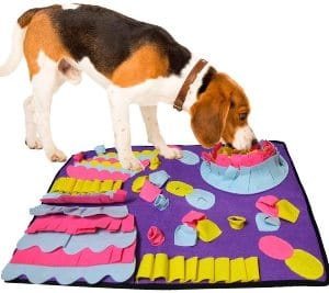 Senyoung Dog Snuffle Mat, Puzzle Dog Feeding Snuffle Mat For Amell Training Nose Work Blanket And St