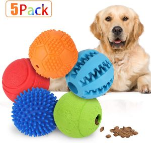 Slopehill 5 Interactive Dog Toys Balls For Small Medium Large Dogs, Dog Puzzle Toys For Boredom, Dur