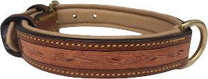 Soft Touch Collars Padded Leather Dog Collar, Custom Handmade Hand Tooled
