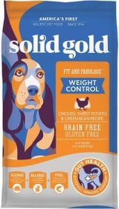 Solid Gold Fit & Fabulous Grain Free Natural Chicken, Sweet Potato & Green Bean Holistic Weight Control Dog Food