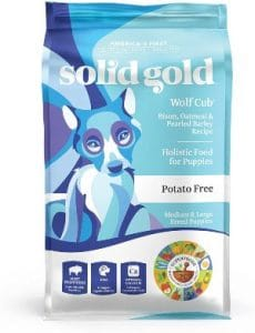 Solid Gold Wolf Cub With Real Bison And Oatmeal Natural Large Breed Puppy Food Potato Free D