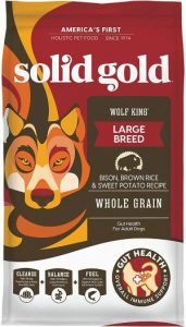 Solid Gold Wolf King With Real Natural Bison & Brown Rice Whole Grain Rich Large Breed Holisti