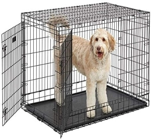 Ultima Pro (professional Series & Most Durable Midwest Dog Crate) Extra Strong Double Door Folding Metal Dog Crate