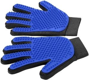 [upgrade Version] Pet Grooming Glove Gentle Deshedding Brush Glove Efficient Pet Hair Remover Mitt