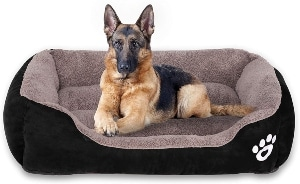Utotol Warming Dog Beds, Rectangle Washable Pet Bed
