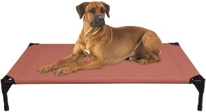 Veehoo Elevated Dog Bed, Portable Raised Pet Cot, Waterproof & Breathable Mat, Durable Textilene Mes