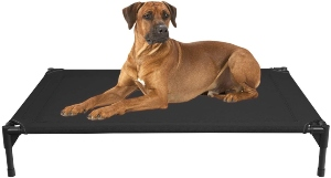Veehoo Elevated Dog Bed, Portable Raised Pet Cot, Waterproof & Breathable Mat,