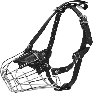 Viper Delta Metal Wire Basket Dog Muzzle.