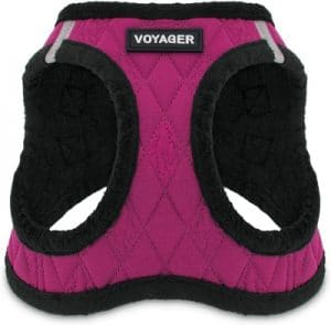 Voyager Step In Plush Dog Harness Soft Plush, Step In Vest Harness For Small And Medium Dogs By B