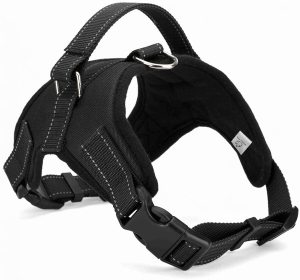 Wiggle Tail Dog Harness No Pull With Handle, Reflective Adjustable Vest Harness For Small Medium Lar