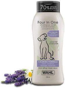 Wahl 4 In 1 Calming Pet Shampoo – Cleans, Conditions, Detangles, & Moisturizes With Lavender Chamomi