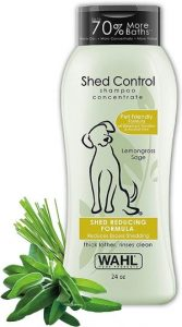 Wahl Shed Control Pet Shampoo For Animal Shedding & Dander – Lemongrass, Sage, Oatmeal & Aloe For He