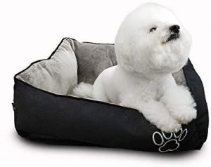 Warmshe Pet Bed For Dogs And Cats, Ultra Soft Warm Paw Print Pet Bed Sofa Water Resistant With Remov