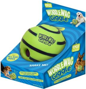 Wobble Wag Giggle Ball, Interactive Dog Toy, Fun Giggle Sounds When Rolled Or Shaken, Pets Know Bes