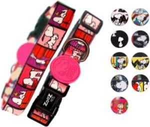 Zooz Pets Snoopy Dog Collar Official Snoopy Adjustable & Water Resistant Dog Collars For Small Dog