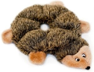 Zippypaws Loopy Hedgehog No Stuffing Squeaky Plush Dog Toy For Small And Medium Dogs