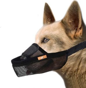 Wintchuk Dog Muzzle, Dog Mouth Guard Mesh For Barking Chewing Biting, Soft Muzzle For Small Medium