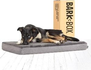 Barkbox Memory Foam Platform Dog Bed Plush Mattress For Orthopedic Joint Relief Machine Washable (1)