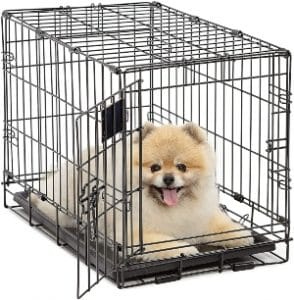 Dog Crate Midwest Life Stages Xs Folding Metal Dog Crate Divider Panel, Floor Protecting Feet, L