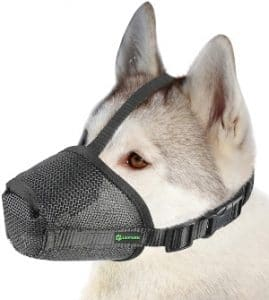 Dog Muzzle Mesh Mask With Velcro For Small, Medium And Large Dogs, Anti Biting, Barking And Chewing,