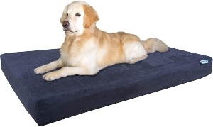 Dogbed4less Memory Foam Dog Bed Pressure Relief Orthopedic, Internal Waterproof Case And 2 Washabl