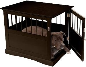 Furhaven Pet Dog Bed Furniture Secure Living Room Dog Crate End Table & Litter Box Cover Storage C