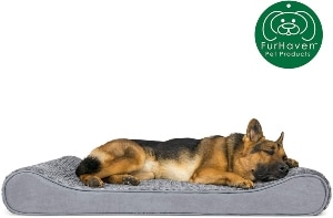 Furhaven Pet Dog Bed Therapeutic Ergonomic Luxe Lounger Cradle Mattress Pet Bed W Removable Cover