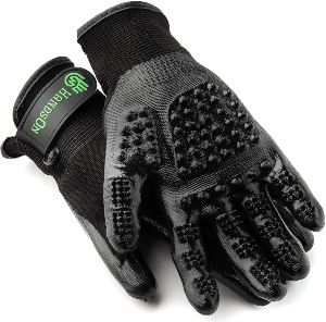 Handson Pet Grooming Gloves Patented #1 Ranked, Award Winning Shedding, Bathing, & Hair Remover Gl
