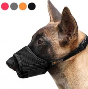 Heele Dog Muzzle Nylon Soft Muzzle Anti Biting Barking Secure,mesh Breathable Pets Mouth Cover For S