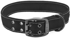 Max And Neo Max Reflective Metal Buckle Dog Collar We Donate A Collar To A Dog Rescue For Every Co (1)