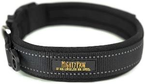 Mighty Paw Neoprene Padded Dog Collar, Reflective Running Dog Collar, Premium Quality Sports Collar,
